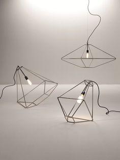 Steel pendant #lamp CON.TRADITION by Opinion Ciatti   #design Sara Bernardi @Opinion Ciatti