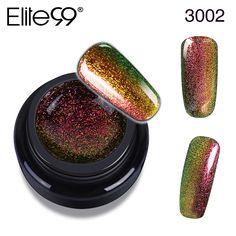 Elite99 Base Top Coat Chameleon Nails Gel Polish 3D Bling Effect UV LAMP Gel Varnish Nail Polish for Manicure Design