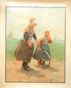 Oude poster van Markens tafereel .door F. Charlet Gevonden op Marktplaats
