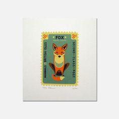 eu.Fab.com   Fox Stamp Print 16x18