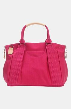 Gorgeous diaper bag that looks like a stylish hobo handbag!