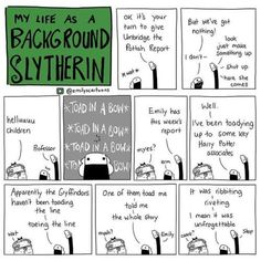 Scroooollll for Background Slytherin, also my other comics. I'm also on IG( & FB. Harry Potter Comics, Harry Potter Jokes, Harry Potter Universal, Harry Potter Fandom, Background Slytherin, Harry Potter Background, Dramione, Drarry, Severus Rogue