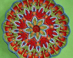 Español Mandala superposición del ganchillo por LillaBjornCrochet
