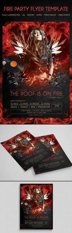 created for sale on Graphic River.  Download: http://graphicriver.net/item/fire-party-flyer-template/8282787?WT.ac=new_item&WT.z_author=yokan