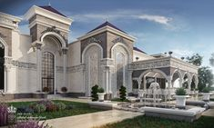 Polypan SuperB Exterior Palace KSA - Exterior Design in UAE / CiddeOur mass production facilities are located in Pendik and Dudullu provinces in. Classic House Exterior, Classic House Design, Villa Design, Garden Route, Luxury Homes Dream Houses, Dream Homes, Mansions Homes, Modern Architecture House, Luxury Home Decor