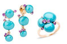 ポメラート カプリ Turquoise Accessories, Turquoise Rings, Jewelry Accessories, Jewelry Design Earrings, Gemstone Jewelry, Unique Jewelry, Indian Jewelry, Expensive Jewelry, Ceramic Jewelry