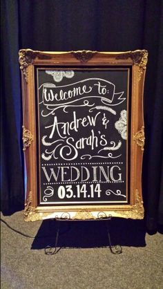 Andrew and Sarah's wedding blackboard...awesome!