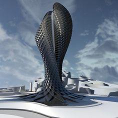 Adaptive Tower | Vague Terrain by Daniel Widrig