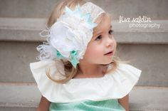 Flower girl headband-baby girl by AvryCoutureCreations on Etsy