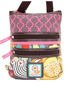Lily Bloom Mini Triple Zip Crossbody Bag--We get these little bags with lots of compartments from Gabriel Bros, TJ Maxx and Marshall's. Made of recycled water bottles. Love them! Perfect for carrying diabetes supplies.