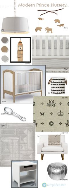A nursery design for the Modern Monarchy's newest member // Modern Prince #Nursery // Simplified Bee