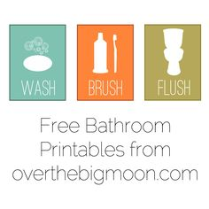 bathroom printables, kids bathroom