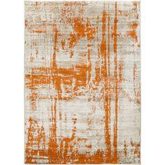 Langley Street Diezel Light Gray & Burnt Orange Area Rug & Reviews   Wayfair