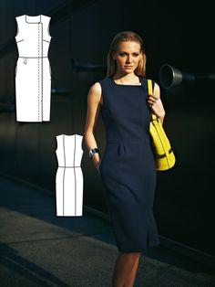 Stop Traffic: 9 Sewing Patterns in Grey and Yellow Vogue Fashion, Fashion Sewing, Diy Fashion, High Waisted Slacks, High Waisted Pencil Skirt, Burda Sewing Patterns, Dress Patterns, Burda Style Magazine, Sewing Blogs