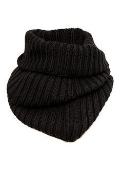 Rick Owens   Ribbed Wool Knitted Snood Black