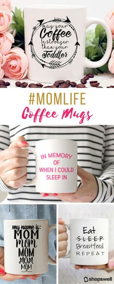 Coffee Mugs Moms Everywhere Will Totally Understand Because moms the world over run on coffee and sometimes wine.Because moms the world over run on coffee and sometimes wine. Vinyl Designs, Mug Designs, Just In Case, Just For You, Cuadros Diy, Diy Mugs, Sharpie Mugs, Sharpie Crafts, Mom Mug