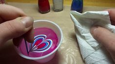 Nail Polish Marbling Tutorial (on resin)