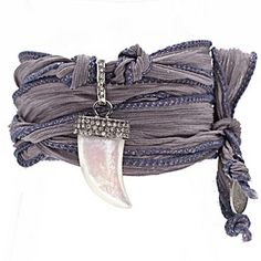 Check out this item at One Kings Lane! Diamond Mother Of Pearl Wrap Bracelet