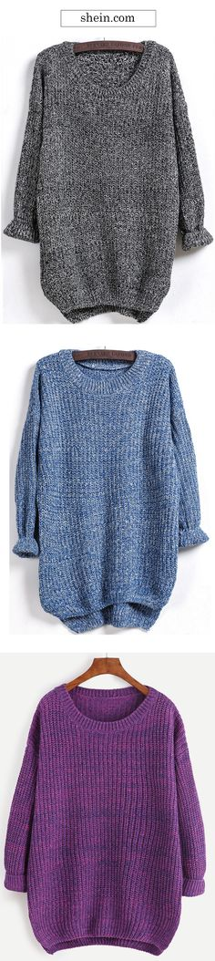 Cozy oversized sweater. Love all the colors!