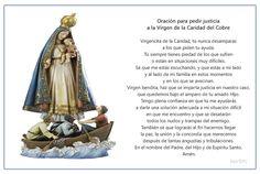Imagen para imprimir de la oración para pedirle justicia a la Virgencita de la Caridad