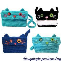 Cute Custom Crochet Animal Purse Kindle by DesigningImpressions, $25.00