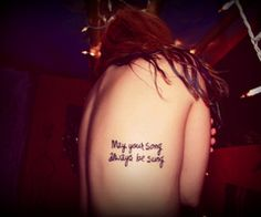 60 Beautiful Song Lyric Tattoos photo Keltie Colleen's photos - Buzznet