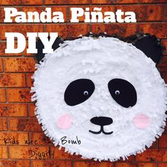 panda pinata diy. diy pinata. how to make a panda pinata. panda party
