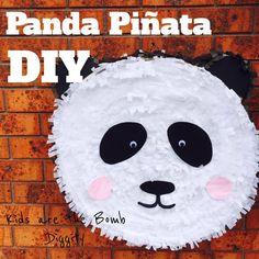 panda pinata diy. diy pinata. how to make a panda pinata. panda party
