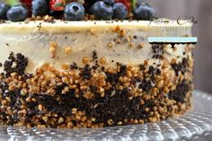 Maková torta bez múky | Karina Cakes Mini Cupcakes, Cheesecake, Cookies, Food, Mascarpone, Crack Crackers, Cheese Cakes, Eten, Cookie Recipes
