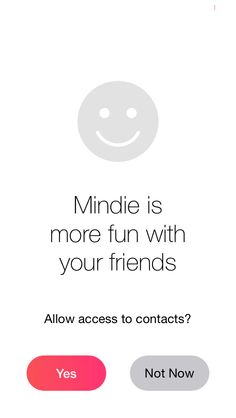 @MindieApp continuous onboarding - invite your friends.