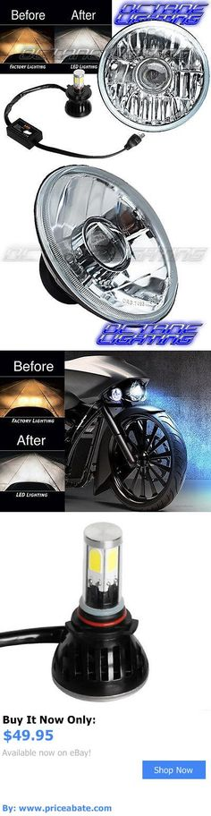 motorcycle parts: 7 H4 Cree Smd 360° 4000Lm Led Light Bulb Projector Headlight Harley Motorcycle BUY IT NOW ONLY: $49.95 #priceabatemotorcycleparts OR #priceabate