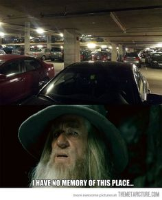 When I look for my car in a parking lot…