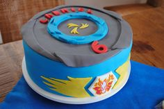 beyblade party - awesome cake