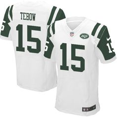 Men's Nike NFL New York Jets #15 Tim Tebow Elite White Color Jersey $129.99