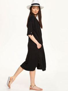 bluza rozpinana damska  czarna - TBL0599 TROLL