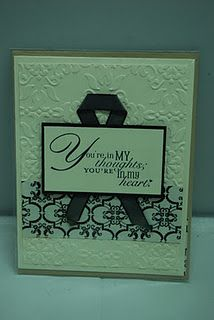 Embossed Thinking of You/Sympathy Card
