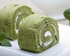 Roulés légers au thé vert Matcha et crème vanillée