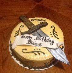 Medieval cake! #medievalcake #swordcake