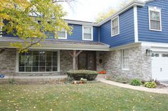 stone over brick exterior home | Exterior Stone & Hardie Board Siding
