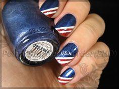 American nail art.
