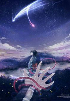 Mitsuha & Taki('s hand) - Kimi no na wa Anime Ai, Anime Love, Kawaii Anime, Miyazaki, Mitsuha And Taki, Kimi No Na Wa Wallpaper, The Garden Of Words, Your Name Anime, Ghibli