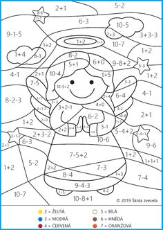 Math Coloring Worksheets, 1st Grade Worksheets, Fun Worksheets, Christmas Activities For Kids, Math For Kids, Preschool Math, Kindergarten, Maternelle Grande Section, Coloring Books