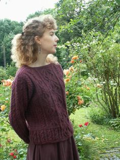 beth brown reinsel | Un Aran top-down (tricoté par le haut), de Beth Brown-Reinsel.Fil à ...