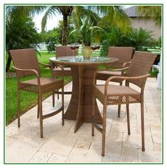 Great Share Wicker Patio Dining Sets Bar Height