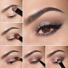 Naked 2 palette for this look: Foxy eyeshadow to highlight the brow bone & clean up the brow. Tease eyeshadow for the transition shade. Busted e/s for the crease. Blackout e/s to define the outer v and lower lash line. Great for smoking out the lower lash line. Verve e/s to highlight the lid.