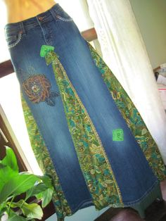 Fair Maiden Skirt/Lovely Handmade Hippie Skirt/Embroidered/Embellished/Sparkly. $80.00, via Etsy.