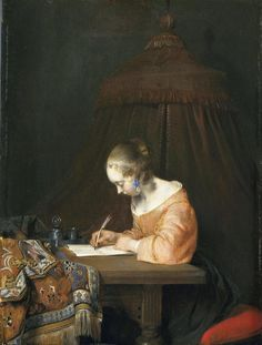 Gerard ter Borch - De briefschrijfster