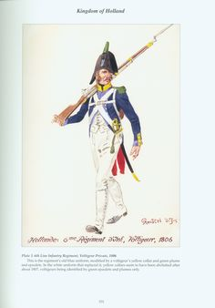 Kingdom of Holland: Plate Line Infantry Regiment, Voltigeur Private, 1806 Army Uniform, Military Uniforms, First French Empire, Dutch Republic, Napoleonic Wars, Modern Warfare, American Civil War, Troops, Period