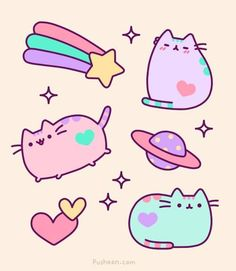 Galaxy Pusheen! #Kawaii #Draw #Illustration