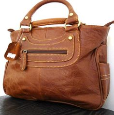 Genuine real 100% leather woman bag brown purse tote hobo lady handbag new style